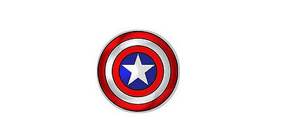 1x Captain America Shield Domed Decal Choice of Sizes