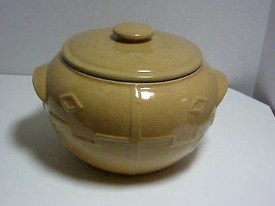 Vintage USA Stoneware Bean Pot /Cookie Jar Southwestern