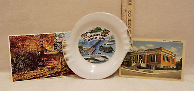 Kentucky Souvenir Vintage Lot Ashtray & 2 Postcards