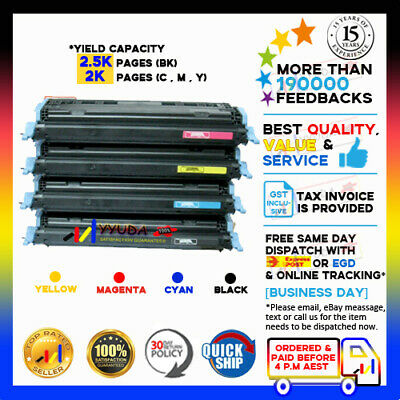 4x Q7560A-Q7563A TONER CARTRIDGE for HP Laserjet 2700/2700N/3000​/3000DN PRINTER