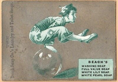 Trade Card for Beach's, White Lily, & White Pearl Soap