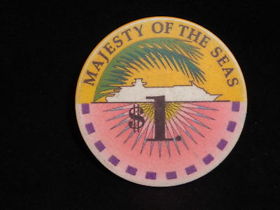 $1 Royal Caribbean Majesty of the Seas Casino Chip $1.00 Cruise Line Blackjack