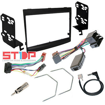 Vy-Vz Commodore Black 2Din Facia Fascia Kit, Steering Wheel Control Harness, Iso