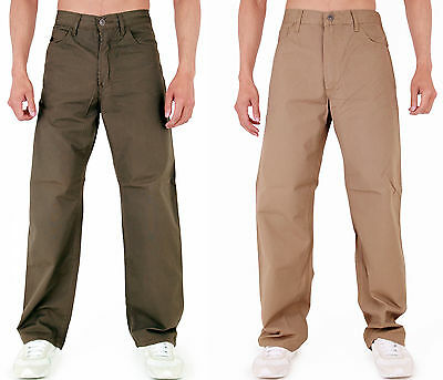 Mens Chinos Classic Fit Chino Trousers  Beige & Khaki ***Clearance***