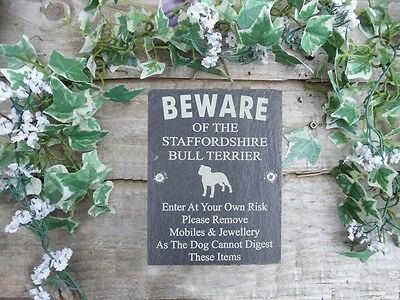 Humor Beware Of The Staffordshire Bull Terrier Plaque