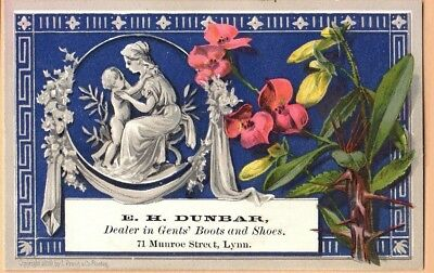 Victorian Trade Card: E H Dunbar Shoes of Lynn, MA