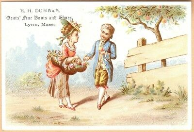 Victorian Trade Card: E H Dunbar Fine Shoes - Lynn, MA