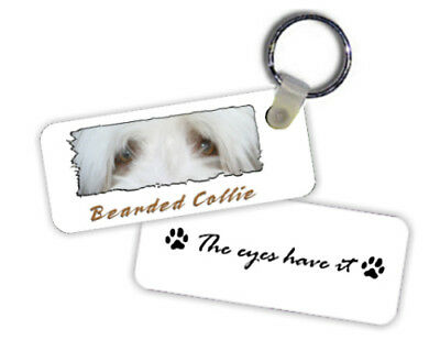 """Bearded  Collie   """" The  Eyes Have It """"   Key  Chain"""