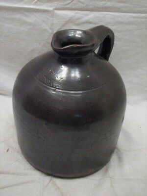 Early Stoneware Jug Slip Crock J.fisher Lyons Ny Spout