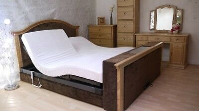 Super King size Regal TV bed with adjustable mattresses