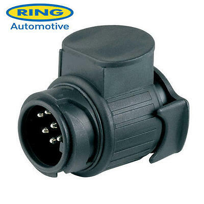 7 Pin Plug To 13 Pin Socket Adaptor Converter For Towing Trailer Ring A0035