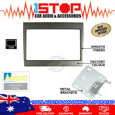 HOLDEN COMMODORE VY-VZ 02-07 GREY DOUBLE-DIN FACIA KIT dash fascia panel 2DIN