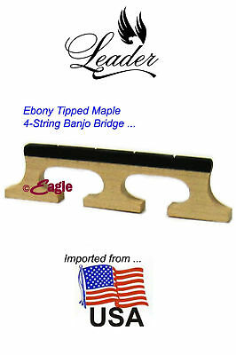 4-String 'USA Maples' Banjo Bridge - 3 Footed by Leader