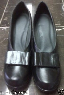 WWII USMCWR 1940 Women Bow Leather Pump Shoes Black