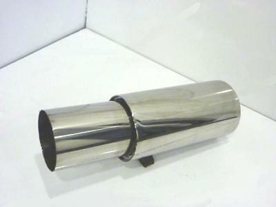 """4"""" Stainless Steel Jap Style Universal Exhaust Back Box 1.75"""" Inlet"""