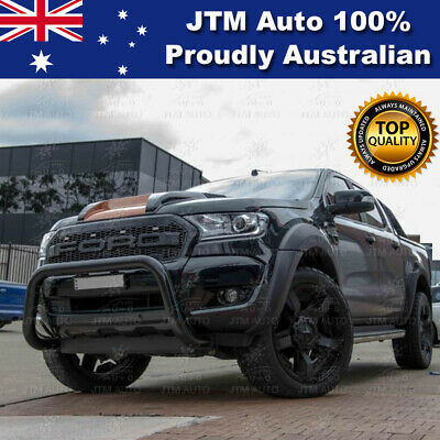 """Ford Ranger PX MKII Nudge Bar 3"""" Black Powder Coated Suits Tech Pack & Sensor"""
