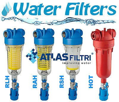 Water Filters ATLAS - HYDRA RAH / RLH / RSH / HOT - with back-wash, Plastic