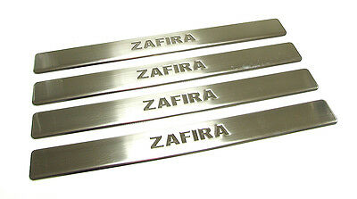 Vauxhall Zafira B Chrome 4 Door Sill Scuff Protector Covers