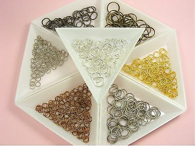 100 x Open JUMP RINGS Findings 3mm - 16mm ~Silver/ Gold/ Nickel/ Bronze/ Copper~