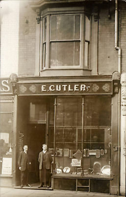 Smethwick posted E. Cutler Sheffield Plate Dealer. Shop