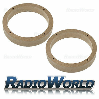 VW Golf/Passat/Fabia/Polo/Leon MDF Speaker Adaptor Kit Rings Spacers 165mm 6.5""