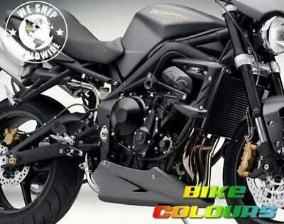 Triumph Touch Up Paint Street Triple Frame Charcoal Pearl Matt