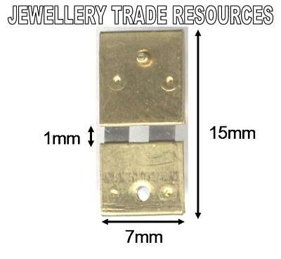 CLOCK SUSPENSION SPRING TOP QUALITY STEEL BRASS 15mm long 7mm wide