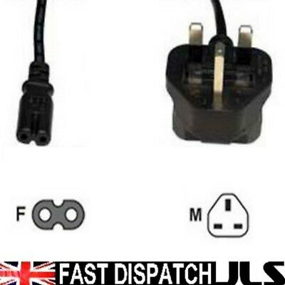 Figure 8 Mains Power Cable Cord Lead Ps2 Tv 1.2M *new*