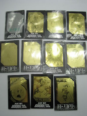 Anime Manga Ah! My Goddess Metal Etching Trading Card Set of 11 Kodansha Japan