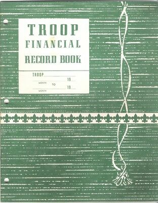 1964 Printing Boy Scouts Troop Financial Record Book