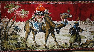 Vtg Oriental Exotic Wall Rug Carpet Tapestry Textile