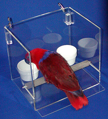 LESS MESS FEEDER SET TALL for cage or table top parrot bird mess control