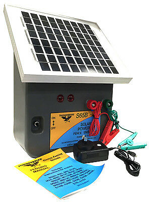 7.5km SOLAR Power Electric Fence ENERGISER Charger Thunderbird S65b Farm