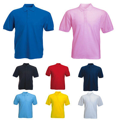 Mens Jersey Polo T Shirt Size XS to 3XL / 100% BREATHABLE JERSEY COTTON - 122