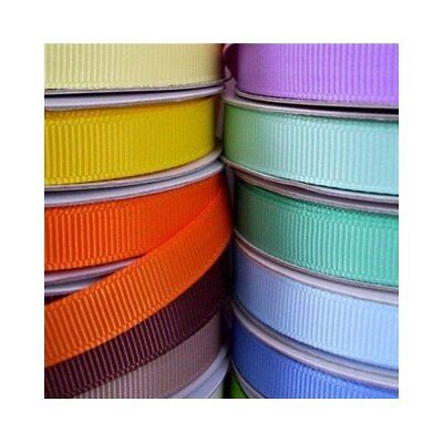 "Grosgrain Ribbon, 50-yard, 3/8"" 5/8"" 7/8"" 1.5"", Bulk, Wholesale"