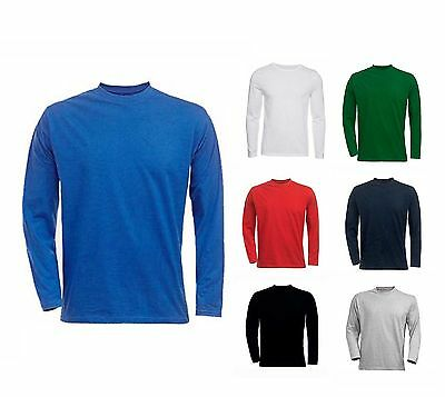 Mens Classic Long Sleeve T Shirt Size S to 4XL 100% SOFT COTTON T SHIRTS - 314