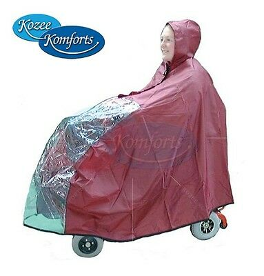 Mini Mobility Scooter Rain Cape / Cover - Small Cat Boot Scooter Waterproof