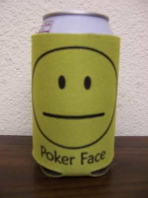 10 Piece lot of Poker Face can Koozies! Free Freight!