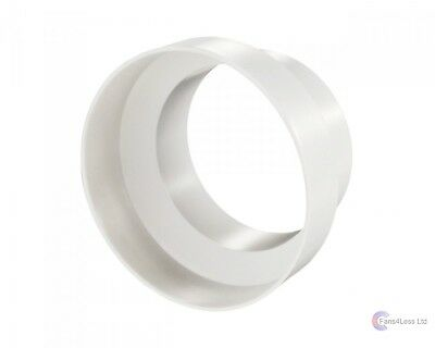 Extractor Fan ducting Reducer PVC 125 - 100mm 5-4 inch