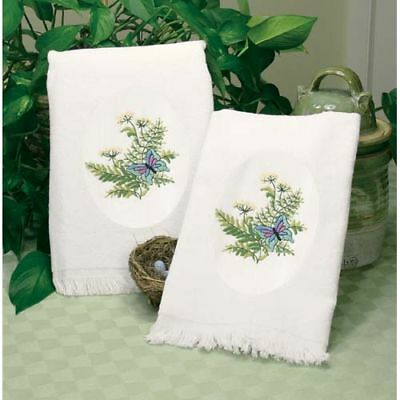 Dimensions Embroidery Kit- Botanical Butterflies Guest Towels