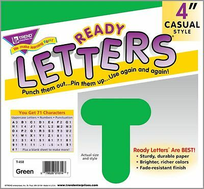 71 Classroom display board ready letters - Green 4""