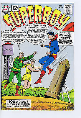 Superboy #100 DC 1962 VERY GOOD +