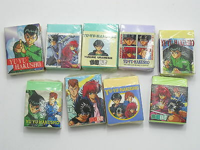 Anime Yu Yu Hakusho New Rubber Stationery Set C Japan
