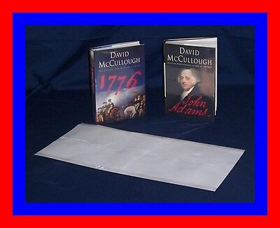 """25 - 9"""" x 19"""" Brodart ARCHIVAL Fold-on Book Jacket Covers - super clear mylar!"""