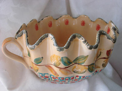 HD34 ITA LICA ARS HAND PAINTED POTTERY SERVING BOWL