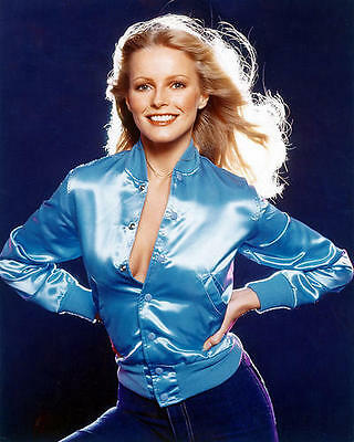 Cheryl Ladd Sexy Busty In Open Blue Jacket 24X30 Poster