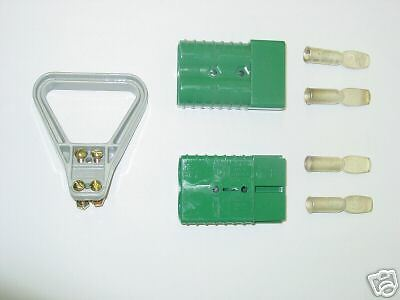 Anderson BATTERY CONNECTORS W/HANDLE 6324G1 Mating Pair