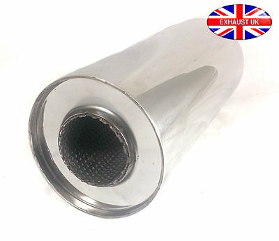 """5""""  3"""" x 8"""" Universal Silencer Exhaust Back Box Stainless Steel"""