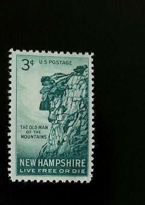 1955 3c Old Man of the Mountains, New Hampshire Scott 1068 Mint F/VF NH