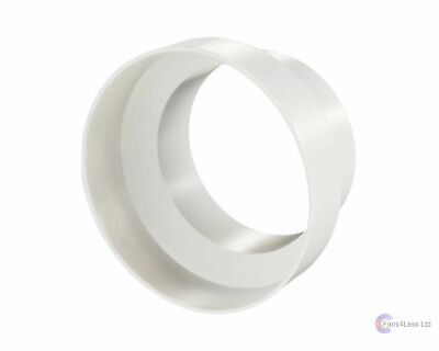 "150-100mm reducer, plastic ducting, extractor fan 6"" to 4"" flexible duct reducer"
